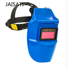 JAISATI Welding automatic change color argon arc welding mask head welding helmet solar automatic masks(China)