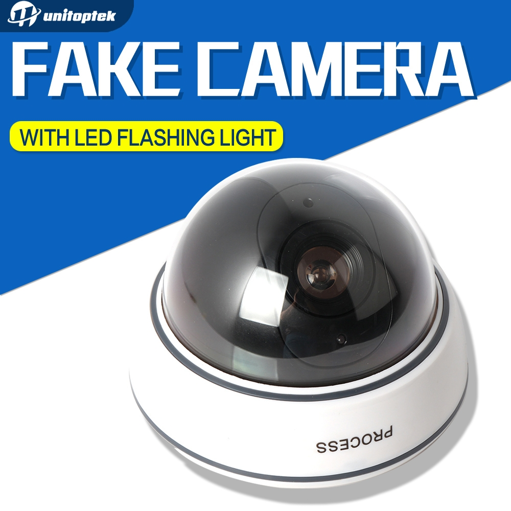 Dummy Camera Fake Outdoor Indoor Weatherproof Fake Surveillance Camera Dome CCTV Security Camera Flashing Red LED Light<br><br>Aliexpress