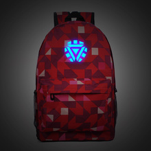 For Millionaire Avenger Alliance Iron Man Book Bag Tide Luminous Fusion Energy Shoulder Bag Men and Women Middle School Students(China)