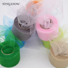 2Inch * 22Yards Shining Tissue Tulle Roll Paper Spool Tutu Crystal Organza Fabric Pom Poms For Wedding Party Decoration 8Z(China)