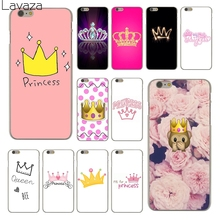 Lavaza PRINCESS Queen boss crown king Fashion Fashion Hard Skin Phone Case for Apple iPhone 6 6S Plus 6Plus 6sPlus Coque Shell(China)