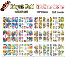 Art Nail (Large Piece HOT352-357 6 DESIGNS IN 1) Fairytale World Full Cover Nail Film Nail Art Water Sticker Decal For Nail Art