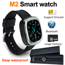 M2 bluetooth Smart Watch For Ios Android Professional Waterproof Micro USB Remote Camera 3 axis Mobile phone smartwatch Z60 S2(China)