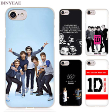 BINYEAE One Direction hot best design Clear Cell Phone Case Cover for Apple iPhone 4 4s 5 5s SE 5c 6 6s 7 7s Plus(China)