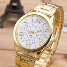 Fashion Casual clock Women Girl Watch Top brand Roman Numerals Stainless Steel Analog Gold Quartz Wrist watches Relogio feminino