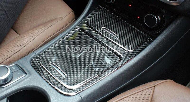 Auto Center Control Storage Cover+Cigarette Ashtray Cover 3pcs For Benz A Class W176 2013-2015<br><br>Aliexpress