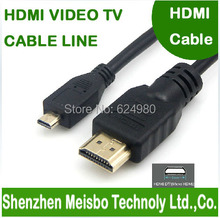 Gold Plated plug flat 1.8m 6ft HD D-type connector Computer monitor 1.4V 1080P 3D micro hdmi to hdmi cable line for phone camera(China)
