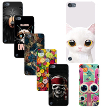 Original Plastic Printed Cartoon Phone Case For Apple Ipod Touch 5 Touch 6 Back Cover Printing Colorful Drawing Hard Cases