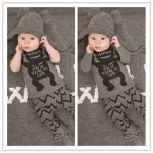 2 PCS Summer Monster Baby Boy Clothes Infant Baby Boy Clothes Cotton Grey Dog Baby Clothes Short Long Sleeve Baby kleding V20