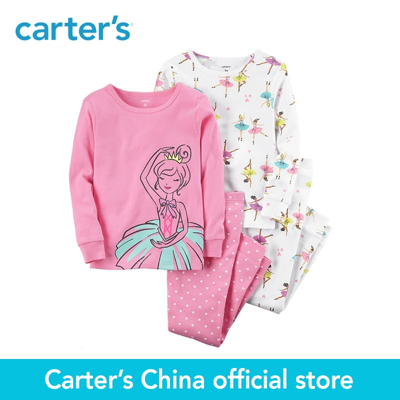 Carters 4-Piece baby children kids clothing Girl Ballerina Snug Fit Cotton PJs 13241216<br>