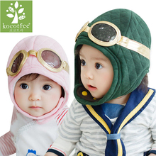 2017 New Winter Baby Hat Toddlers Warm Cap Hat Beanie Cool Baby Boy Girl Kids Infant Winter Pilot Cap 3 Colors Boy Girl Gift Hat(China)