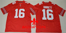 2017  BAICLOTHING Ohio State  J.T. Barrett 16 College Football Jersey - Red Size S,M,L,XL