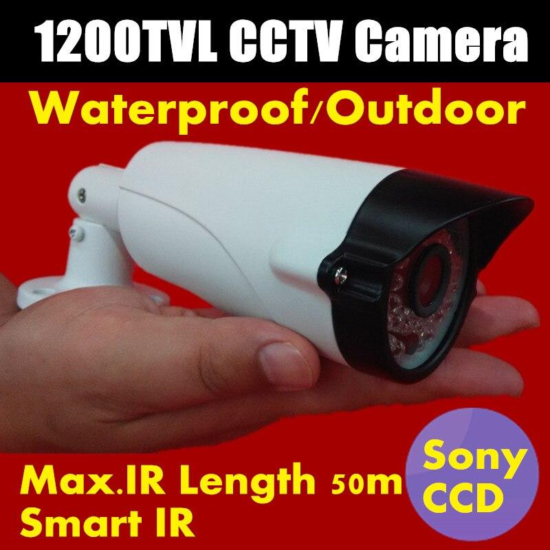 Hot sale 2017 NEW 1/3 Sony CCD HD 1200TVL Mini CCTV Camera Waterproof IR Security Camera with 36 LEDS IR distance 50M<br><br>Aliexpress