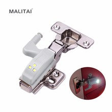 Universal Inner Hinge LED Sensor lamp 0.3W Cabinet Wardrobe Cupboard Door 3 LEDs Night light Auto Switch ON/OFF Bulb