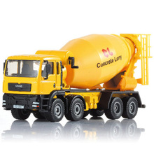 Happy Cherry 1:50 Scale Diecast Cement Mixer Truck Construction Vehicle Transport Car Carrier Truck Toy Model Cars
