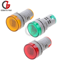 Buy Mini AC 60-500V Digital LED Voltmeter Voltage Meter AC Voltmeter LED Indicator Display Pilot Light DIY Red Green Orange 22MM for $1.16 in AliExpress store