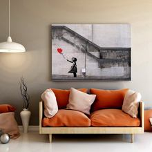 Large Modern home wall Art decorative banksy There Is Always Hope Red Balloon Girl printed Painting Street Artwork On Canvas(China)