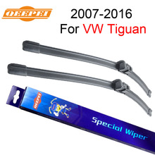 QEEPEI Windscreen Wiper Blades For Volkswagen / VW Tiguan 2007-2016 Car Auto Accessories For Natural Rubber Bracketless CPC1(China)