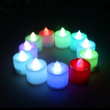Polypropylene Plastic 6 Colors Candle Shape LED Fliker Flameless Candle Light For Wedding Party Holiday Decoration