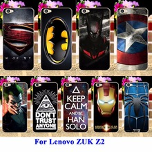 AKABEILA Cases For Lenovo ZUK Z2 5.0 Inch Housing Covers Skin Protector Sheath Durable Back Shell Captain American Batman Bags(China)