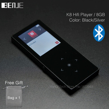 BENJIE K8 8GB Bluetooth MP3 Music Player Touch Screen Metal E-book FM Radio Recorder Support 128GB TF Card Wire Control - HanQi Tech Store store