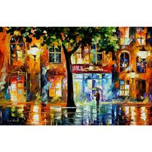 Modern oil painting on canvas secrets of windows handmade landscape palette knife art wall home decor