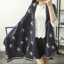 2016 New Fashion Winter Animal Swallow Women Scarf Elegant Wraps,Cute Character Brand Female Cashmere Scarf Shawls Pashmina