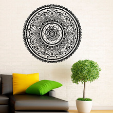 ZOOYOO Mandalas Indian Pattern Wall Decals Home Decorative Namaste Yoga Wall Stickers Removable Modern Style(China)