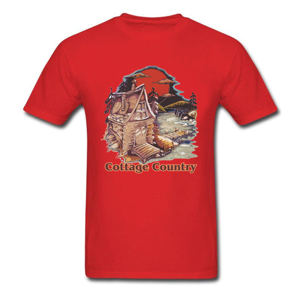 Coage Country Funny Printed On Tees O-Neck ostern Day All Coon Short Sleeve T Shirt for Men Print Tops Tees Coage Country red