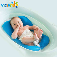 High Quality Non-Slip Baby Bathing Mat Foldable Newborn Baby Security Bath Seat bath tub/bed/pad/chair/shelf baby shower nets^(China)