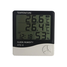HTC-2 Digital LCD In/Out Temperature Humidity Meter Thermometer Hygrometer Alarm Clock 1m External Probe(China)