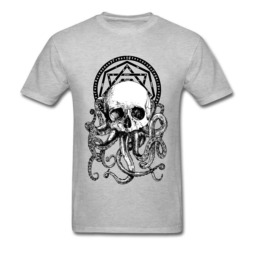 Pieces of Cthulhu Family Adult T Shirt O Neck Short Sleeve Pure Cotton Tops Shirts Geek T Shirt Wholesale Pieces of Cthulhu grey