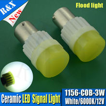 2x3W ceramic base Car 1156 382 BA15S P21W R5W auto Turn Signal Tail Brake COB LED Light White Car Bulb Lamp DC12v car-styling