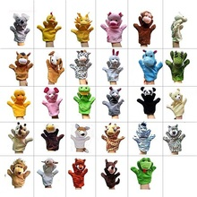 Retail Fun Express Preschool Kindergarten Velour Animal Finger Puppets Kids Toy 29Animals Options Duck Monkey Lion Wolf Mouse(China)