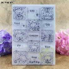 Hello Baby Sweet Dream Teddy Bear Scrapbook DIY photo cards account rubber stamp clear stamp transparent stamp 15*10.6 CM(China)