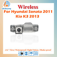 Wireless Parking Camera / 1/4 Color CCD Rear View Camera For Hyundai Sonata 2011 / Kia K3 2013 Night Vision / 170 degree(China)