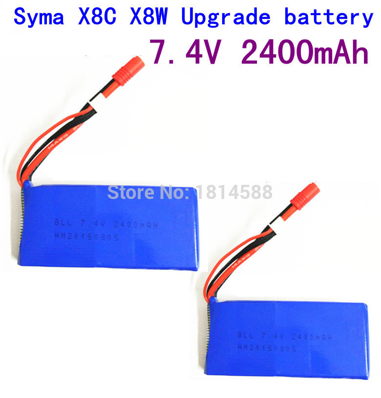 2pcs SYMA X8 X8A X8C X8C-1 X8W X8G 7.4V 2400 mAh Li-po Battery RC Quadcopter X8C X8W Spare Parts<br><br>Aliexpress