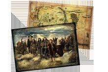 The Hobbit 420*280mm Hobbit Poster Maps Movie derivative surrounding Hobbit version of Middle-earth map 3pcs/set in stock