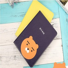 Cute cartoon leather cover for ipad mini 1 2 3 common Fresh APEACH RYAN MUZI TUBE pattern tablet case(China)