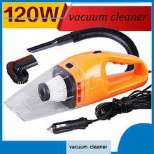 Car Accessories 120W Portable Wet And Dry Dual Use Car Vacuum Cleaner For Auto Clean 5m Length Charging Line(China)