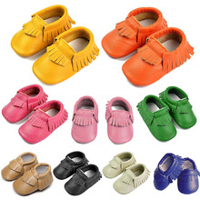 New Baby Moccasin Newborn Baby Prewalkers Shoes First Walker Soft Bottom Non-slip Infant Kids PU Leather Tassel Toddler Boot