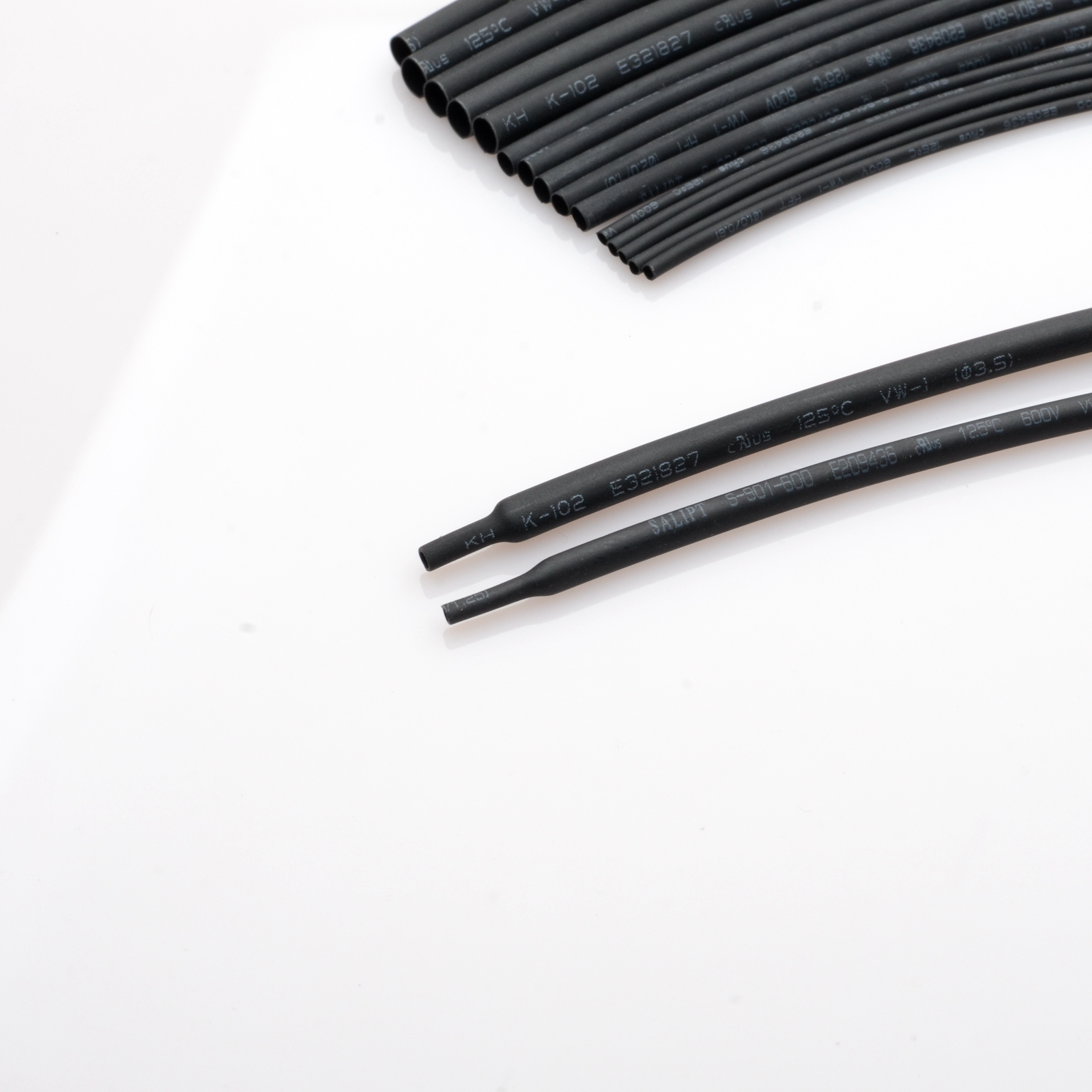 Black 1 Meter/Lot Contraction Ratio 2:1 1 to 10mm Diameter Heat Shrink Heatshrink Tubing Tube Sleeving  DIY Connector Repair