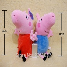 Genuine 1PCS 46CM pink Peppa Pig Plush pig Toys high quality hot sale Soft Stuffed cartoon Animal Doll For Children's Gift(China)
