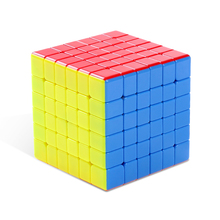 Cyclone Boys 6x6x6 Stickerless Speed Magic Cube Puzzle - Colorful