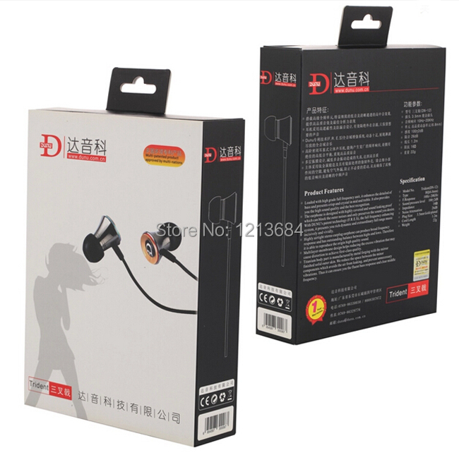 Boxed! DUNU Trident DN12 High Fidelity Metal Professional Dynamic Noise-Isolation In-Ear Hifi Stereo Music Earphones Earbuds<br>