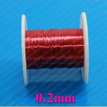 100m/pc Red Magnet Wire 0.2mm Enameled Copper wire Magnetic Coil Winding 0.2 mm