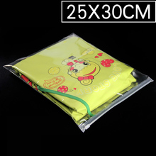 100pcs/lots 25cm*30cm*120micron Transparent Storage Pouch, Plastic Bag With Logo, Zipper Bag Retail Packages