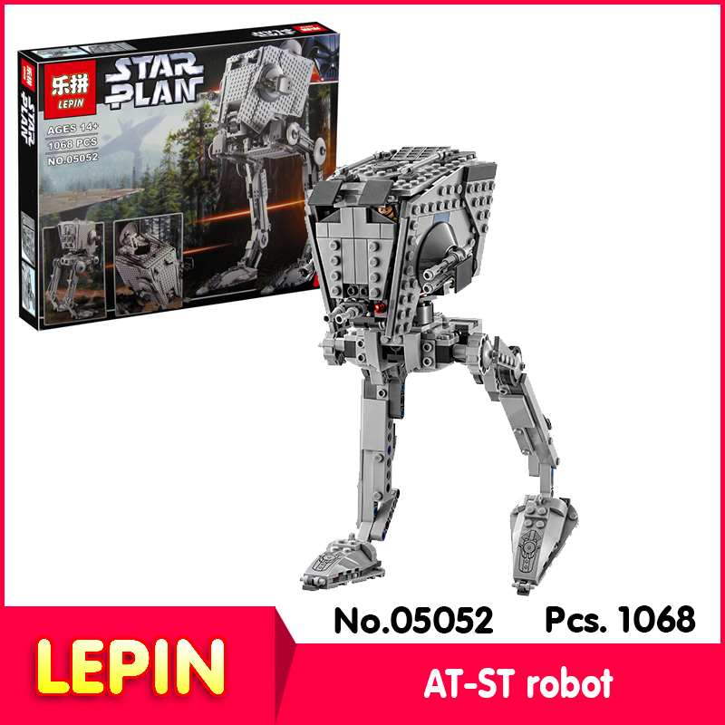 2017 NEW Lepin 05052 1068pcs with original box Star Wars Series AT-ST robot Model Building Blocks Bricks Compatible Legoe 10174<br><br>Aliexpress
