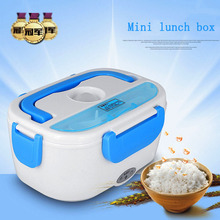 Mini Electric Car Heat Insulation Thermo Lunch Charging Hot Rice Cooker Multi Functional Plug Plastic Box Seal cutlery(China)
