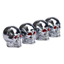 Hot Sell Red Eyes Skull Tyre Tire Air Valve Stem Dust Caps For Car Bike Truck Bicycle Bike Repair Accessory High Quality Mar 15